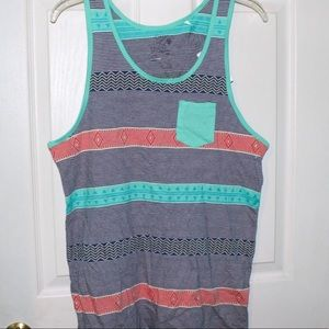 Striped tribal looking tank top nwt small